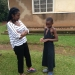 mini-Harriet with Daphine who was sick that day and could not go to school