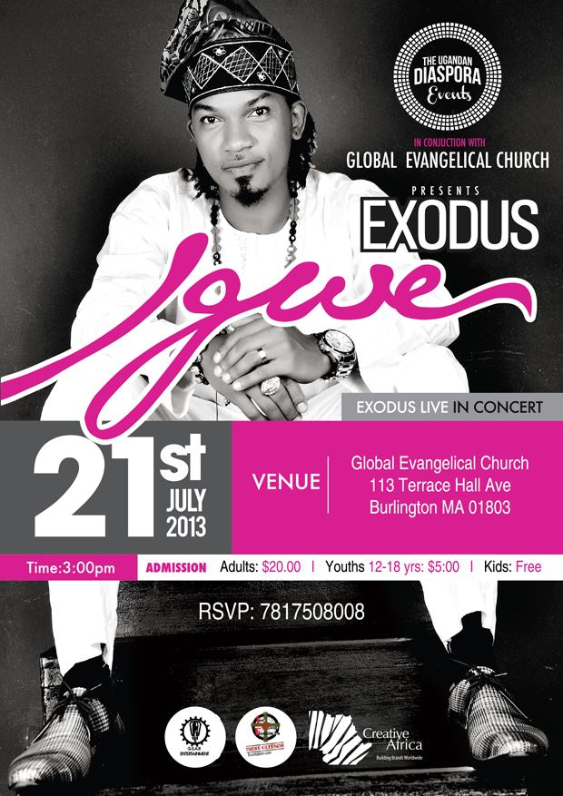 Exodus live in concert july 21st 2013 global evangelical for 12 terrace hall ave burlington ma