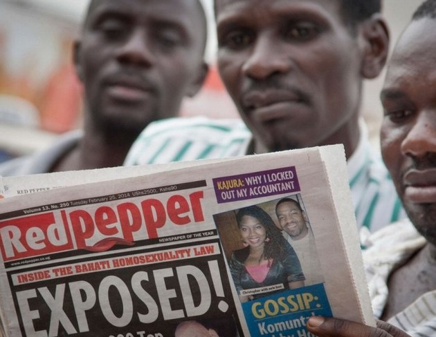 "A Ugandan tabloid Red Pepper published a list Tuesday of what it called the country's ""200 top homosexuals,"" outing some Ugandans who previously had not identified themselves as gay.Rebecca Vassie/AP"