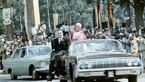 Pope Paul VI visits Uganda in July 1969, the first ever papal visit to Africa