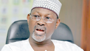 The Chairman of the Nigerian Election Commission (INEC), Prof. Attahiru Jega who presided over the recent Elections