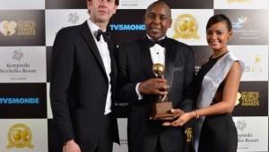 Mr. Anthony Chege General Manager | Kampala Serena Hotel receives the Kampala Serena hotel award in Seychelles.