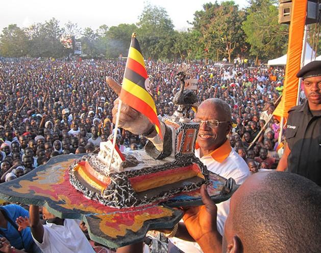 Amama Mbabazi campaigns in Arua