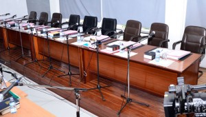 Empty seats of the bench at the Supreme Court in Kampala. Photo by Eric Dominic Bukenya.